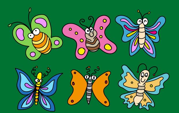 Cartoon Butterflies Vector
