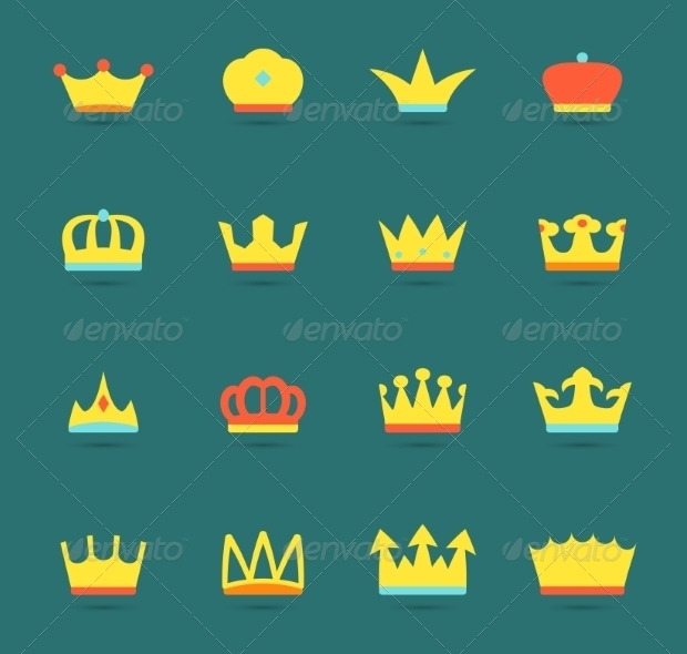 decorative crown icons