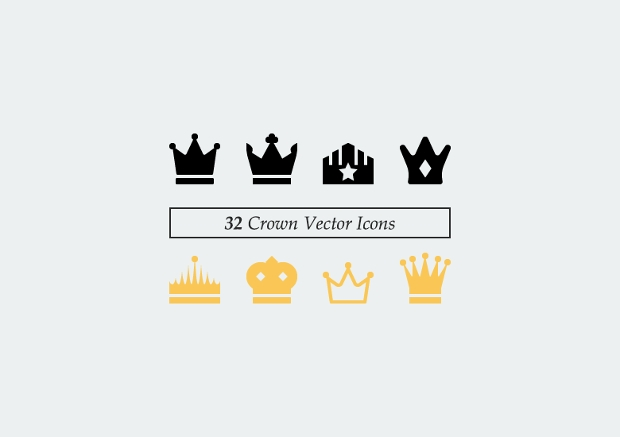 vector crown icons