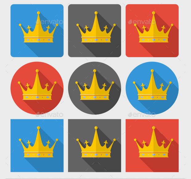 Classic Crown Icon Set