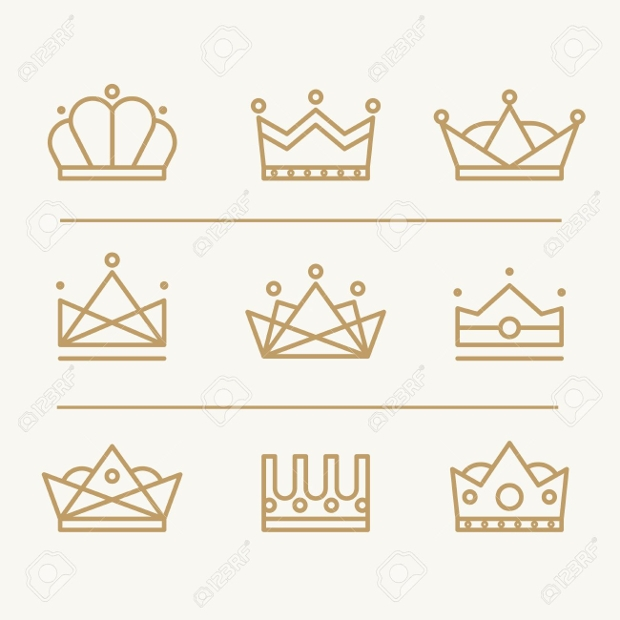 modern crown icons