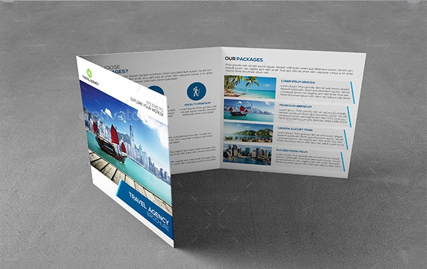 Travel Agency Square Brochure