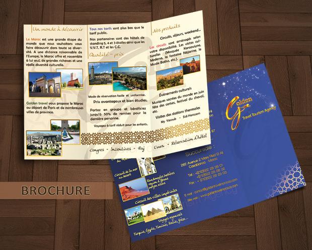 Golden Travel Agency brochure