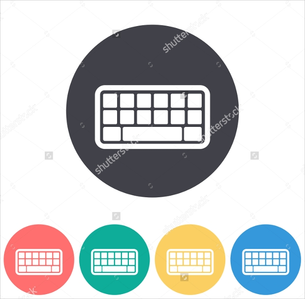 round keyboard icons