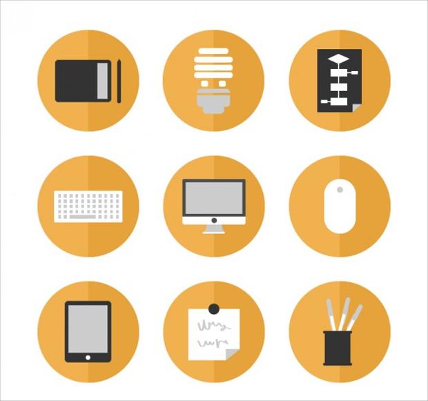 keyboard office icon set