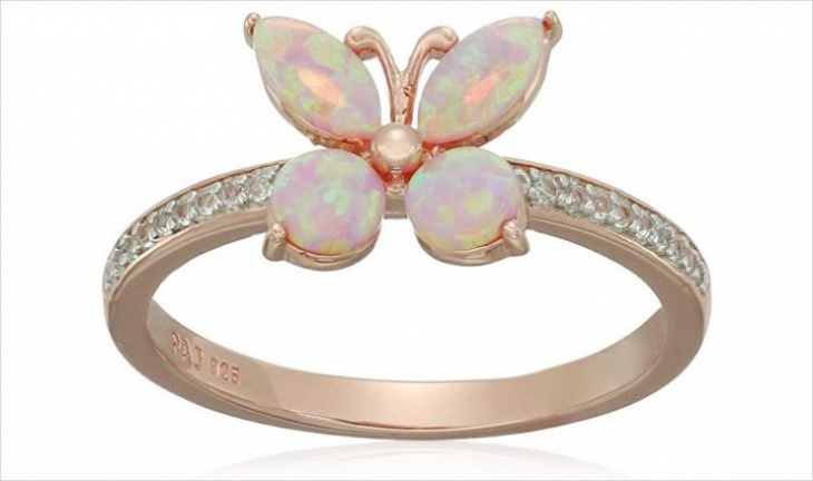 opal butterfly ring design