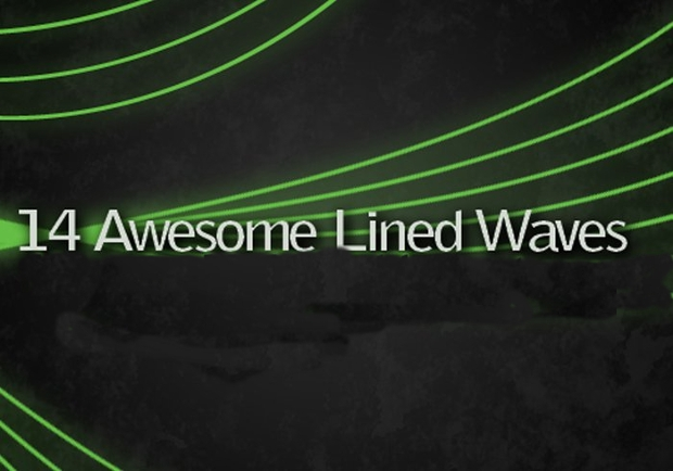 Awesome Lined Wave Photoshop Brushes