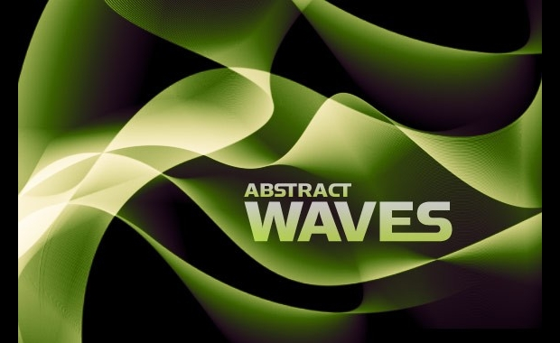 abstract waves photoshop brush set