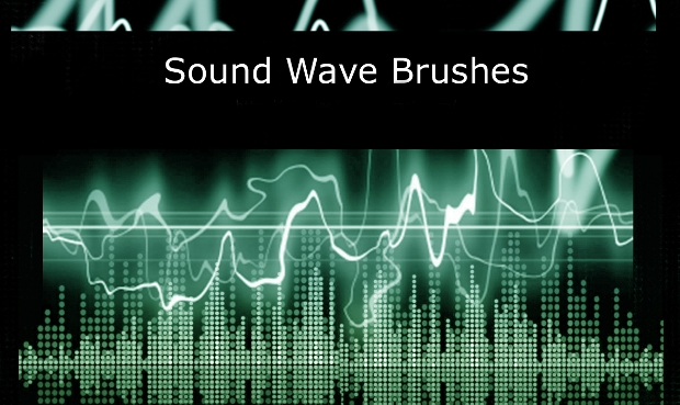 Photoshop Sound Wave Brushes