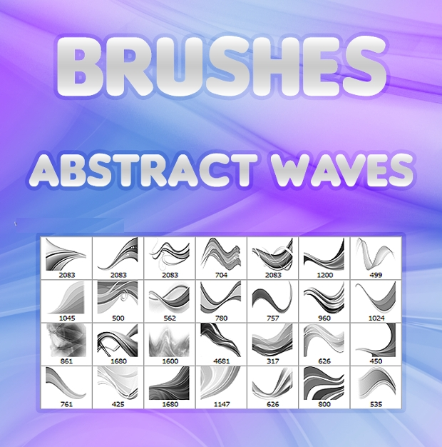 free abstract wave brushes