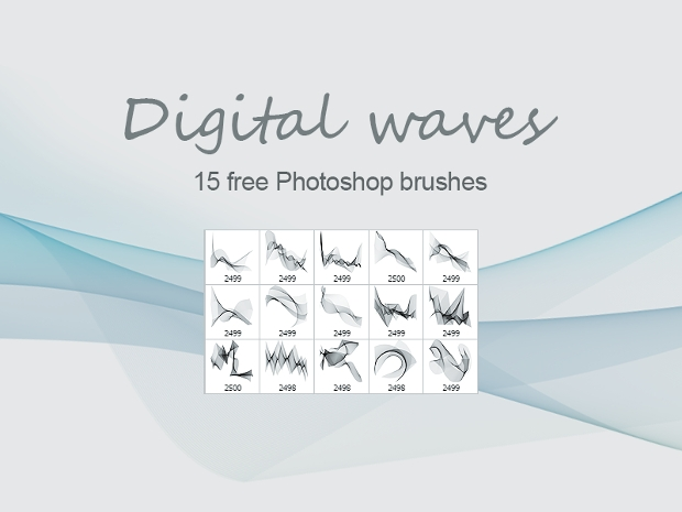 digital waves photoshop brushes