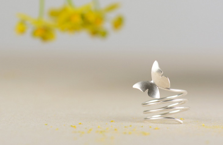 spiral butterfly ring idea