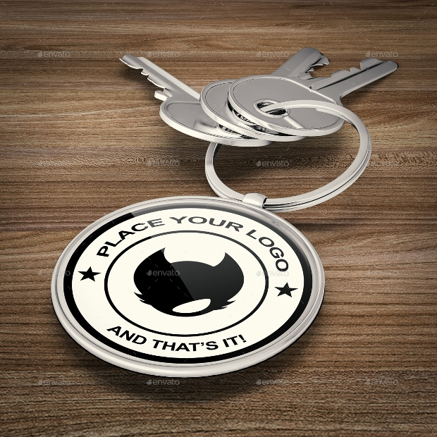 Key Ring PSD Mockup