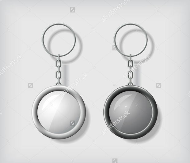 Blank Round Keychain Mockup