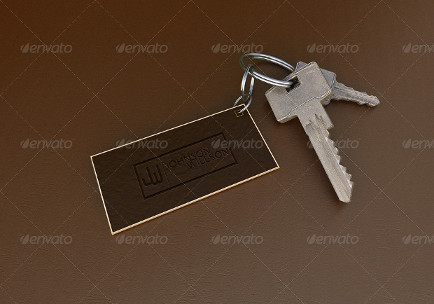 square keychain mockup template
