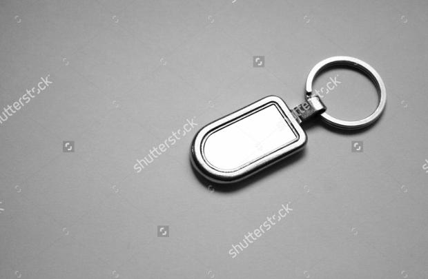 Keychain Metal Mockup
