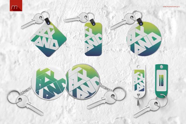 Keychain Tag Mockup