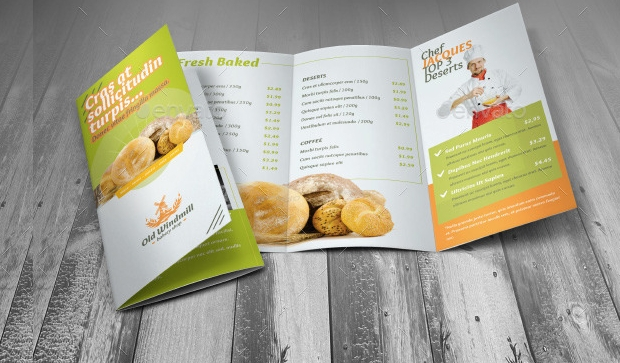 Bakery Brochures Free PSD AI InDesign Vector EPS Format - Bakery brochure template