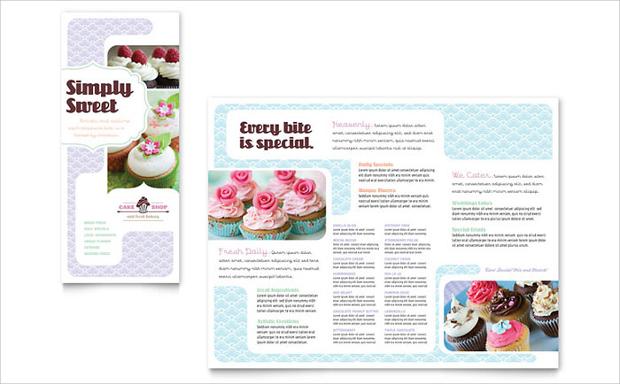 Cake Bakery Brochure Design