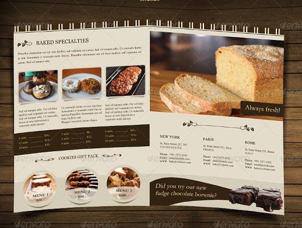 Bakery brochures free psd ai indesign vector eps