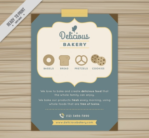 Bakery Brochures Free PSD AI InDesign Vector EPS Format - Bakery brochure template free