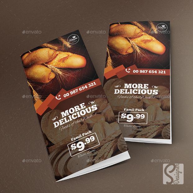 High Resolution Bakery Food Brochure
