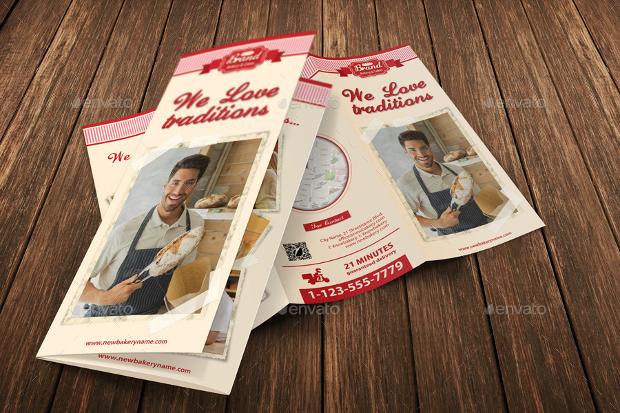 Bakery Shop Tri Fold Brochure Design