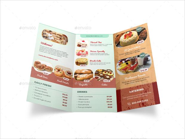 Bakery store Tri Fold Brochure