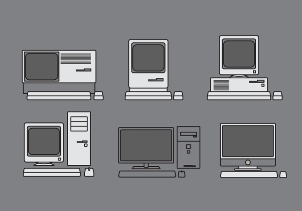 old computer vector design