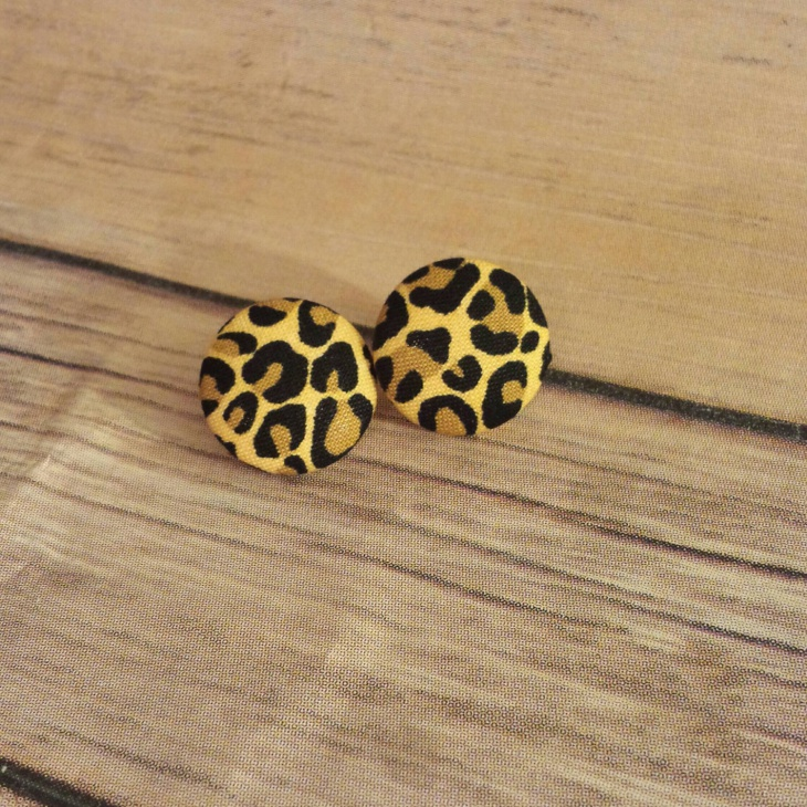 Leopard Print Fabric Earrings