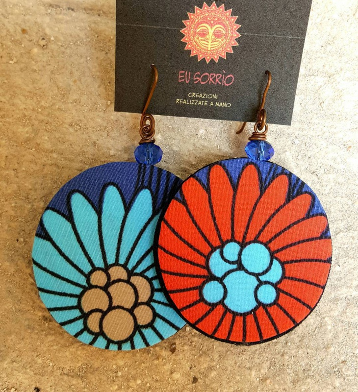 Handcrafted Fabric Earrings