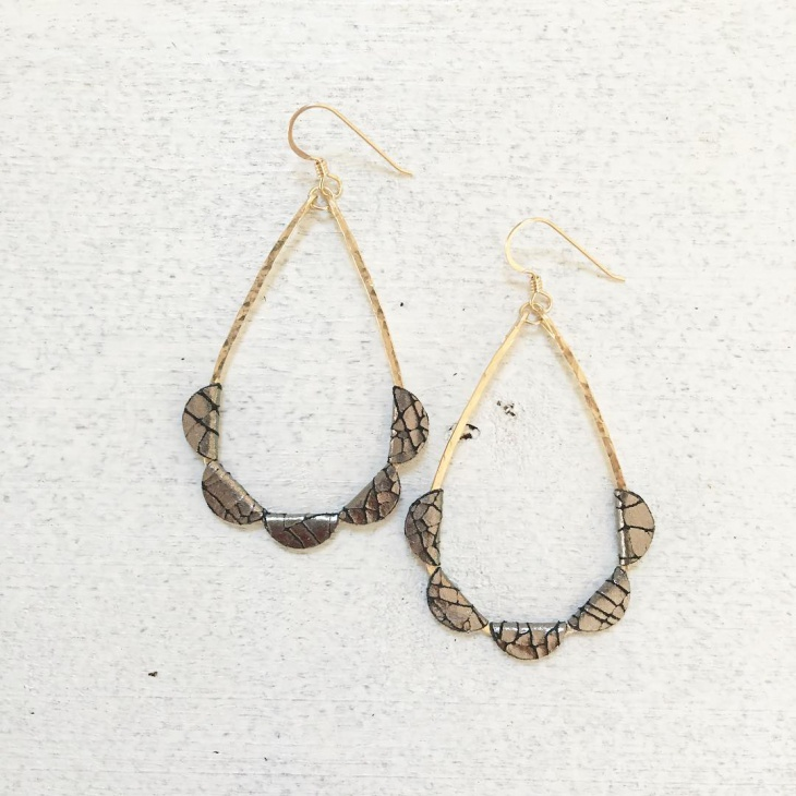Tear Drop Fabric Earrings