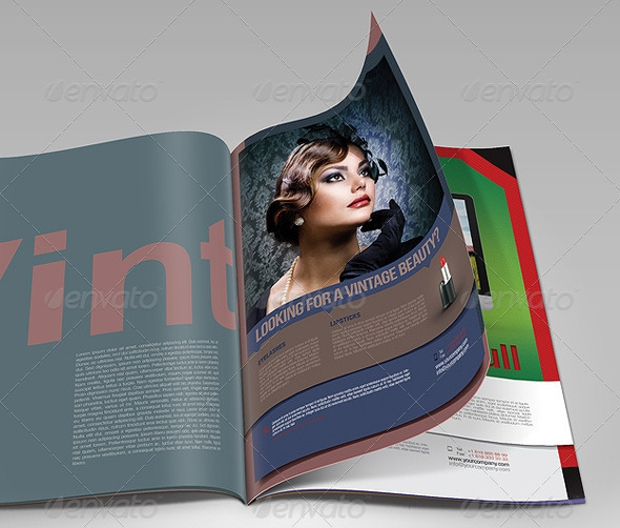 Print Magazine Advertisement Template