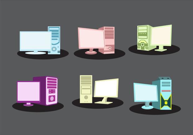 Personal Computer Vector Set