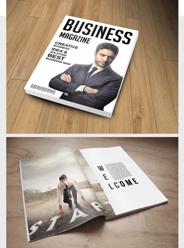 business advertisement magazine
