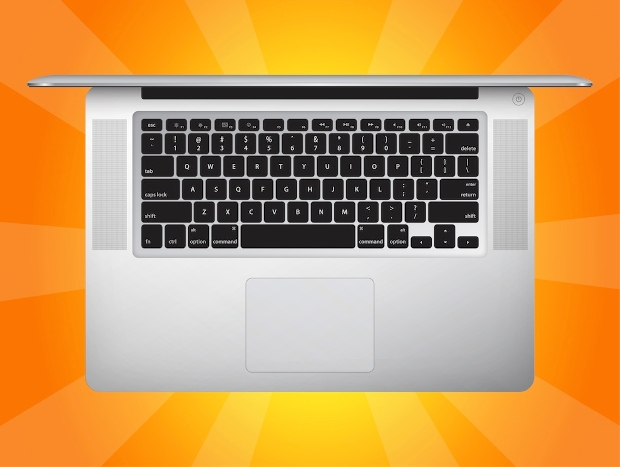 realistic macbook vector