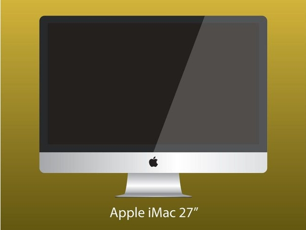 apple imac computer vector