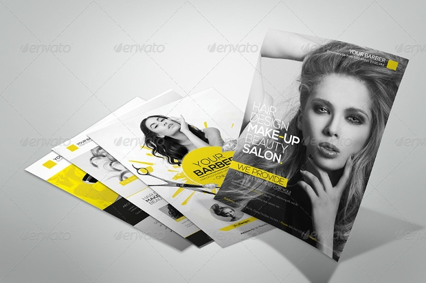 Hair Salon and Makeup Flyer