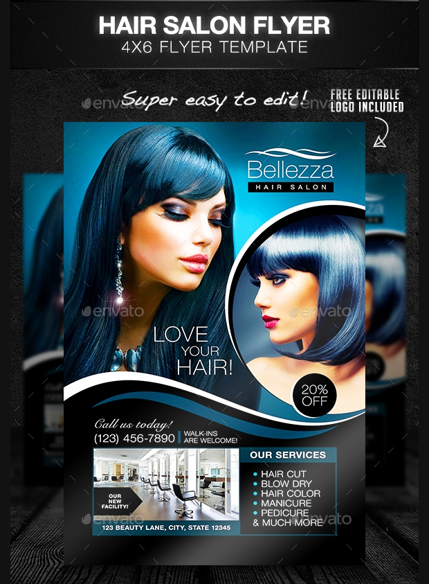 Elegant Hair Salon Flyer