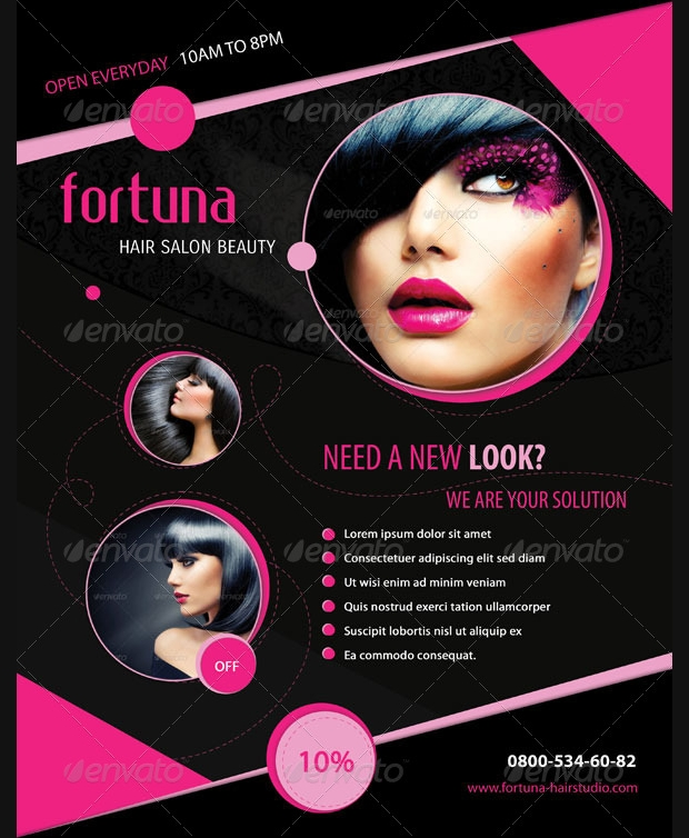 Beautiful Hair Salon Flyer