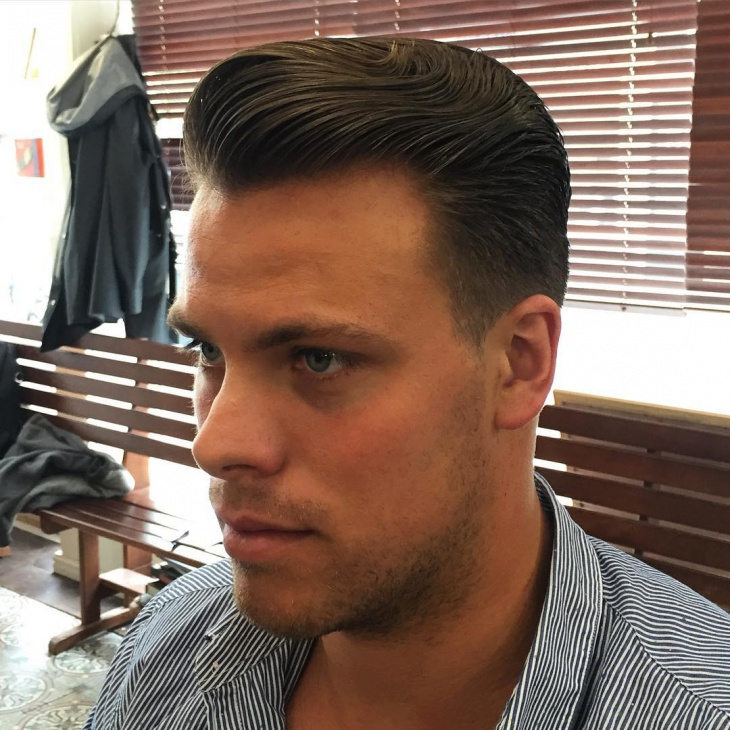simple slicked back hairstyle