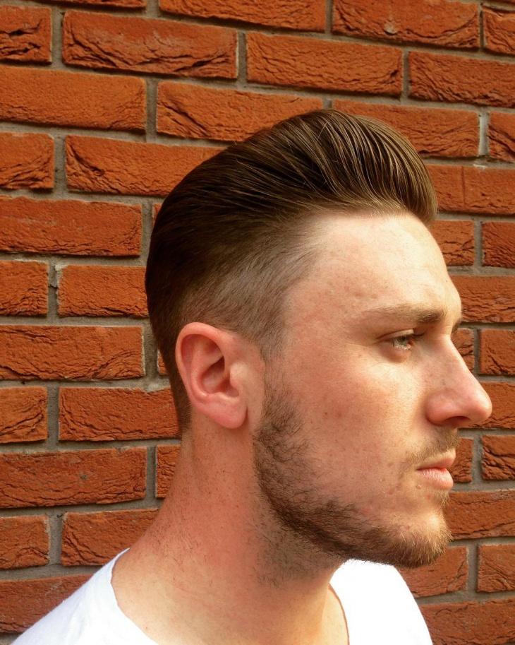 high pompadour slick back hair