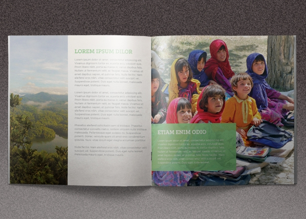 church mission charity brochure