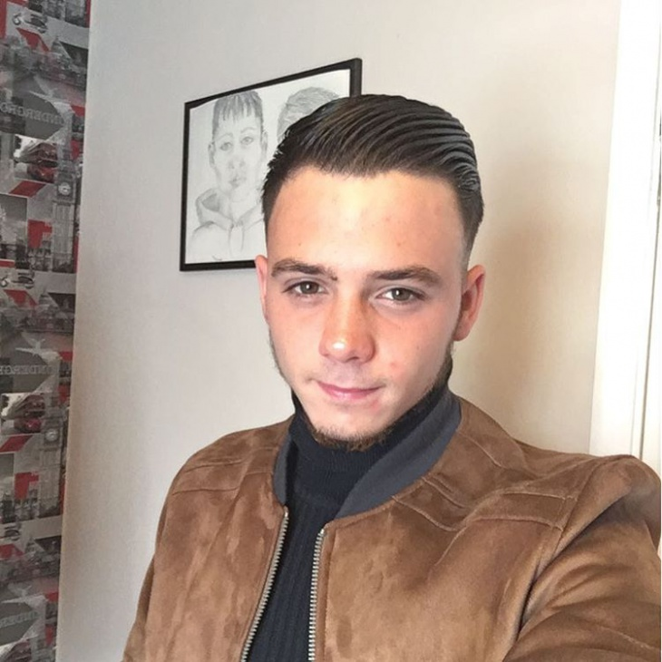 retro style combover hairstyle