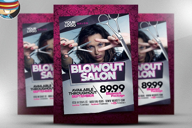 Blowout Hair Salon Flyer