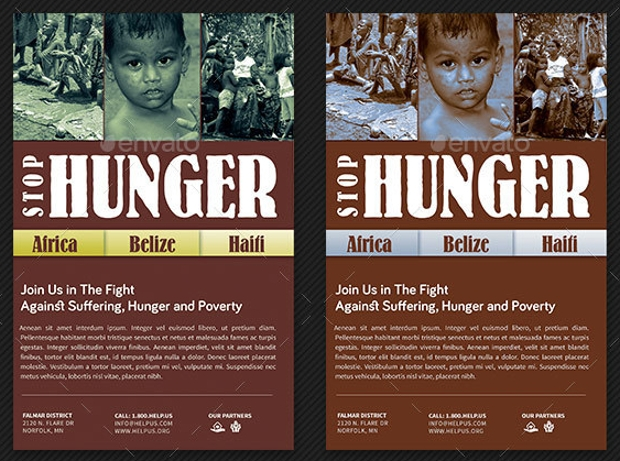 stop hunger charity brochure