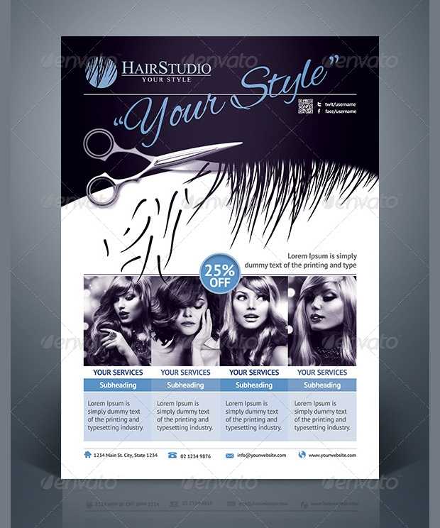 Creative Hair Salon Flyer