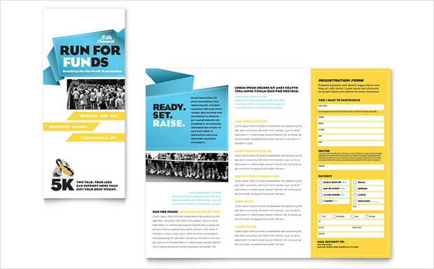 charity run tri fold brochure