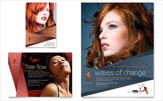 Hairstylist and Salon Flyer