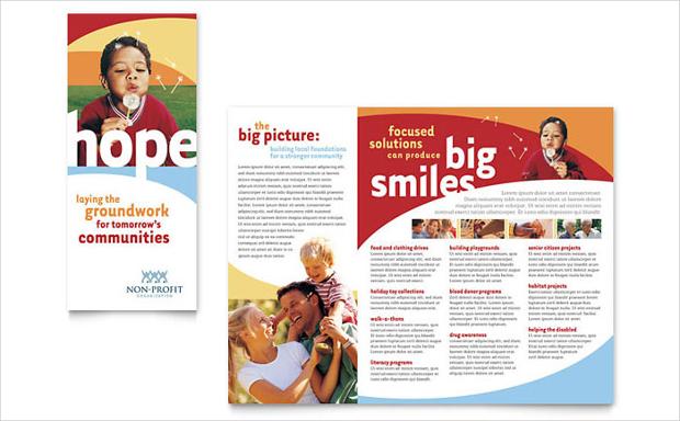 non profit brochure template
